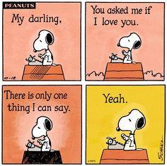 Love cartoon via www.Facebook.com/Snoopy