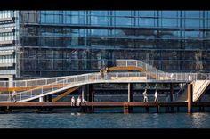 Havnepromenade i flere plan. København