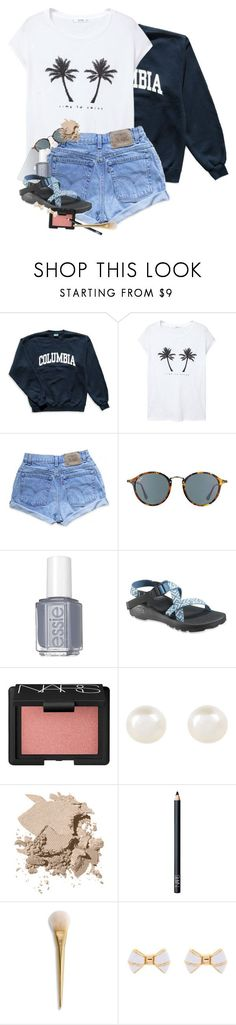 """""""Watching Zootopia!!"""" by erinlmarkel ❤ liked on Polyvore featuring Columbia, MANGO, Levi's, Ray-Ban, Essie, Chaco, NARS Cosmetics, Accessorize, Bobbi Brown Cosmetics and Ted Baker"""