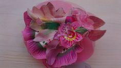 Handmade brooch in soft tissue, pink. beatrice.cianfrui@facebook.com