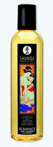 Shunga massage olie - Romance - 250 ml fra Shunga - Sexlegetøj leveret for blot 29 kr. - 4ushop.dk - Shunga massage olie er fremstillet af 100% naturlig koldpresset olier. Ideel til en afslappende massage, hvor denne naturlige olie giver en dejlig og blød kropsmassage. Efterlader huden lækker og blød og styrker denne med sit indhold af vitamin E.