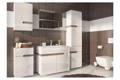LINATE, koupelnová sestava, alpská bílá/trufla