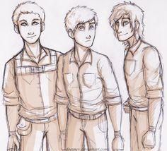 The Maze Runner fan art | Minho, Thomas, and Newt