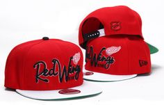 67ded142615 NHL Detroit Red Wings New Era 9Fifty Snapbacks Hats Red 036 9546