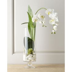 John-Richard Collection Faux Orchid ($221) ❤ liked on Polyvore featuring home, home decor, inspirational home decor, handmade home decor and white home decor