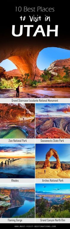 Some would argue that Utah is a state destined for nature lovers; and while there's no arguing about tastes, one thing is certain: it does have jaw-dropping, natural attractions by the bucket loads. Here are 10 Best Places To Visit In Utah travel usa Voyage Usa, Destination Voyage, Parcs, Future Travel, Vacation Destinations, Utah Vacation, Vacation Travel, Family Vacations, Summer Travel