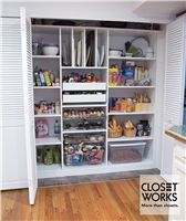 Closet Works   Chicago Kitchen Pantry Storage Cabinets   Wood Pantry  Storage Closets