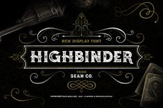 Highbinder Display Font (20% OFF) by SEAN Co. on Creative Market