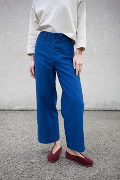Caron Callahan Stewart Pant in Indigo Twill Indigo, Inspiration Mode, Look At You, Fashion Outfits, Womens Fashion, Fashion Fashion, Style Guides, What To Wear, Style Me