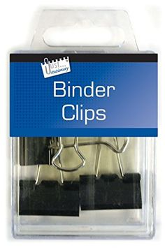 Just Stationery Hanging Box Binder Clips (Pack of - Black Binder Clips, Office Branding, Flip Clock, Box, Stationery, Packing, Amazon, Germany, Weddings