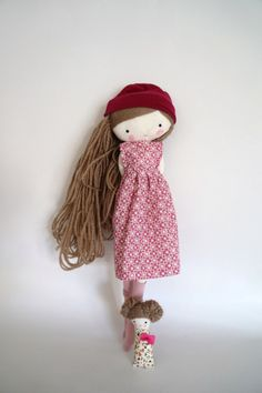 Handmade rag doll Isabella ooak cloth art rag by lassandaliasdeana