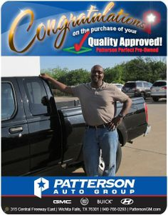 Congratulations Ronald on your new truck!- From Stella Yarbrough at Patterson Auto Group