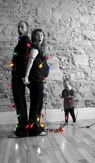 awesome. it would be cute to have the kids sitting on the floor opening presents so they tied us up for a reason