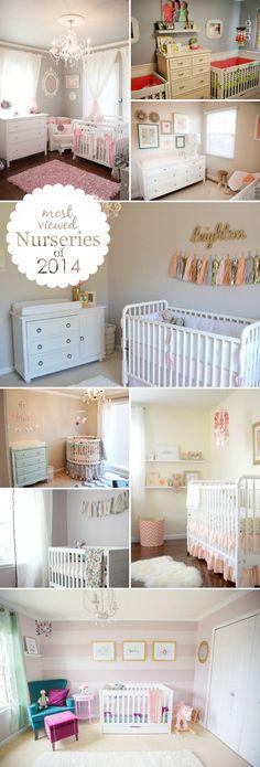 Baby girl nursery ideas on pinterest project nursery for Nursery project ideas