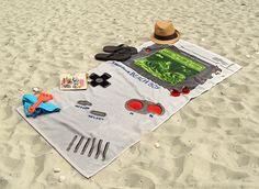 Une serviette GameBoy pour avoir la classe cet été