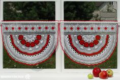 "Шторки-zazdrostki ""Яжембина"", crochet-curtains"