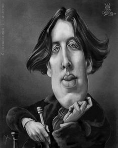 Oscar Wilde caricature by Marzio Mariani (All Rights Reserved)