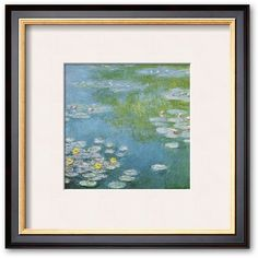 Art.com Nympheas at Giverny Framed Art Print by Claude Monet ($142) ❤ liked on Polyvore featuring home, home decor, wall art, multicolor, wood home decor, landscape wall art, horizontal wall art, wooden wall art and wooden home decor