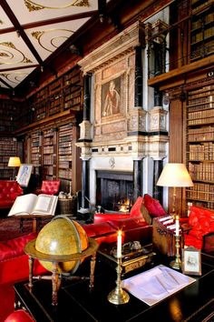 English Manor--Wish this was my Library Room I like the one in Beauty and the Beast the one that raps all the way around
