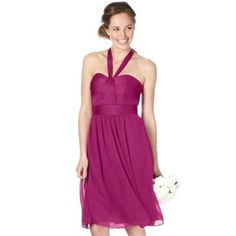 Purple Bridesmaid Dress | Dark, Pink dress and Shoes