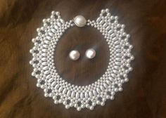 Vintage collar style pearl bead neckless by youruniquescrapbook, £22.50