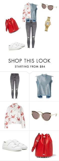 """Shake"" by agirlinla ❤ liked on Polyvore featuring River Island, Marques'Almeida, Miu Miu, Acne Studios and Alexander Wang"