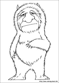 Coloring pages for kids. All your favorite cartoon stars are here ! Colouring Pages, Coloring Pages For Kids, Coloring Books, Kids Coloring, Wild Ones, Wild Things, Craft Projects For Kids, Art Projects, Wild One Birthday Party
