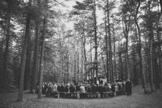 Campground ceremony outside Boston, MA. #wedding #campground #ceremony