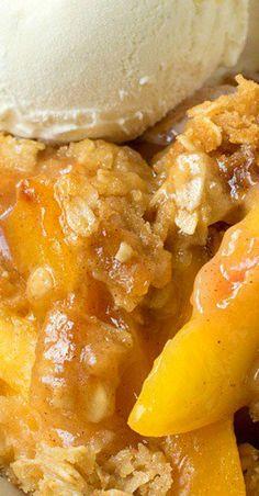 Peach Crisp #peaches #peachcrisp #summerrecipe #fruits #crisp #recipe #recipeoftheday