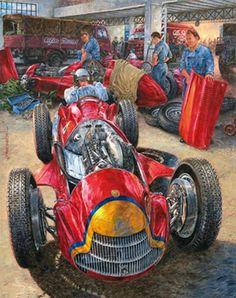 Famous Argentinian, Juan Manuel Fangio by Jorge Garcia