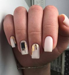 100 Trendy Stunning Manicure Ideas For Short Acrylic Nails Design – Page 60 of 101 - Summer Nail Colors Ideen Chic Nails, Stylish Nails, Trendy Nails, Minimalist Nails, Fall Acrylic Nails, Acrylic Nail Designs, Short Square Nails, Short Nails, Nagel Gel