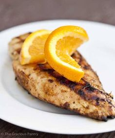 Clean Eating Citrus Grilled Chicken ~ https://www.thegraciouspantry.com