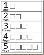 tons of math/counting printables