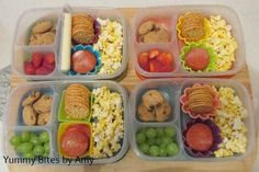 DIY Lunchables packed for four | packed in @EasyLunchboxes containers