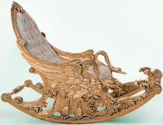 Neo-classical rocking chair Europe, 19th century