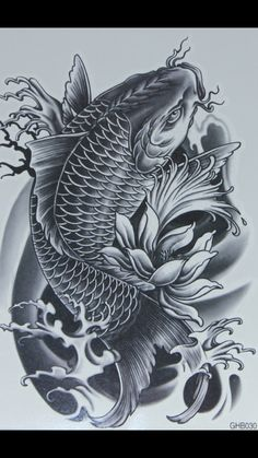 koi tattoo design - Tattoos And Body Art Koi Dragon Tattoo, Pez Koi Tattoo, Koi Tattoo Sleeve, Carp Tattoo, Dragons Tattoo, Japanese Sleeve Tattoos, Dragon Tattoo Designs, Koi Fish Tattoo Forearm, Koy Fish Tattoo