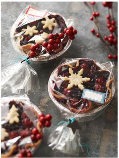 Christmas dessert packaging