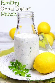 Healthy Ranch Dressing, Yogurt Ranch Dressing, Avocado Lime Dressing, Keto Ranch Dressing Recipe, Greek Yogurt Ranch Dip, Best Greek Yogurt, Peanut Dressing, Yogurt Salad Dressings, Low Calorie Salad