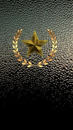 Gold Star And Wreath Iphone Wallpaper