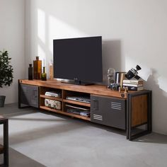 City tv cabinet is fashionable & a perfect addition for a chic home. Get this & other industrial furniture at our online store Singapore. Decor, Furniture, Interior, Home, Tv Cabinets, Home Furniture, Tv Console, Entertainment Center, Wooden Tv Stands