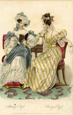Morning and evening dresses, summer 1831
