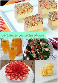 24 Champagne Spiked Recipes via thefrugalfoodiemama.com #NewYearsEve