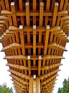 Close-up of Yusuhara wooden bridge