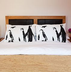 Set Of Two Penguin Dream Pillowcases - bed, bath & table linen