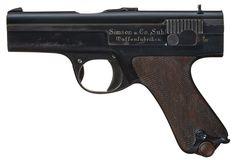 Rare Simson & Co. Prototype 9mm Semi-Automatic Pistol