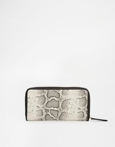 New Look Snake Zip Aorund Purse
