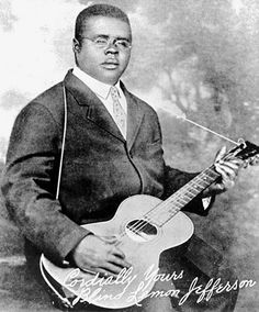 """Blind Lemon Jefferson September 24, 1893- December 19, 1929  American blues singer and guitarist from Texas. He was one of the most popular blues singers of the 1920s, and has been titled """"Father of the Texas Blues"""".Jefferson died in Chicago at 10:00 am on December 19, 1929, of what his death certificate called """"probably acute myocarditis""""."""