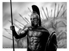 King Leonidas 300 digital art
