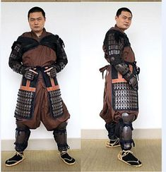 Two-piece yoroi hitatare, often worn by samurai around the late 16th century. Metal started being used because of the increased use of guns.
