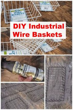 This thrifty idea ends up looking super chic! Look what she did with these Dollar Store wire baskets!